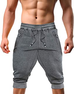 EKLENTSON Men's Jogger Pants High Elasticity Elastic Waist Gym Workout Running Sweatpants with Pockets