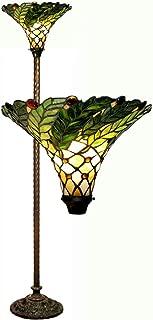 Warehouse of Tiffany's 3742-BB75B Green Leafy 60-Watt 67-Inch Torchiere Lamp, 15