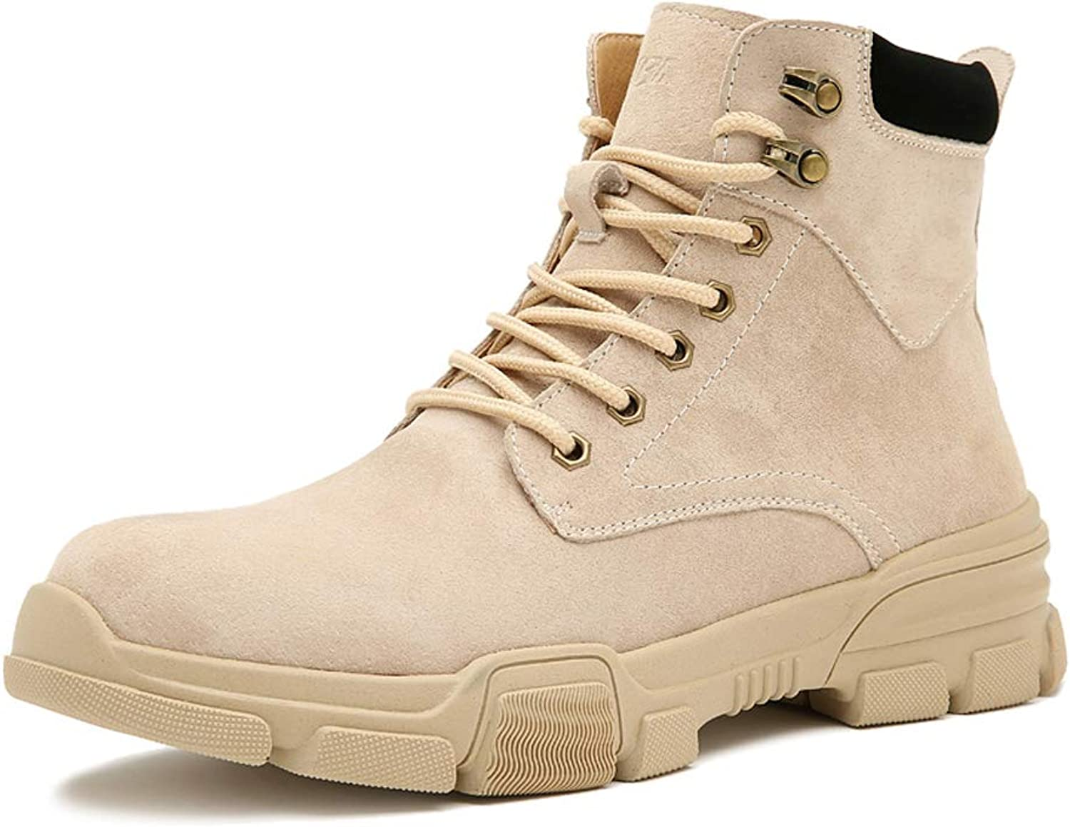 UBCATBA Mens Casual shoes Winter Leather Martin Boots High Top Sneakers