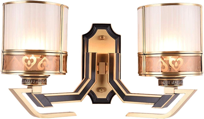Defeng Wohnzimmer Schlafzimmer Studie Nachttischlampe Klassische Schwarze Schwarze Wandlampe japanische Retro Wandlampe Flur Ganglichter   (Farbe   Gold, Größe   48CM26CM)