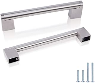 Probrico 5 Inch Hole to Hole Spacing Pulls for Cabinet Door Stainless Steel Hollow 14mm Boss Bar Drawer Handles 30 Pack