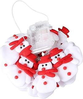 KESYOO 1 Set Snowman String Lights Battery Powered Fairy Light for Christmas Festival Parties Bedroom Decor