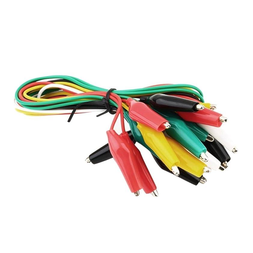 歩行者穿孔する熟達テストリード 10個 テスト クリップ 耐久性 配線 ワイヤーテックセット ワニ口クリップ 品質保証