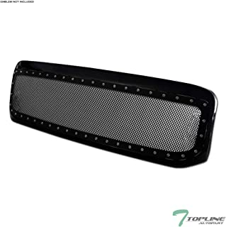 Topline Autopart Glossy Black RVT Rivet Bolt Steel Mesh...