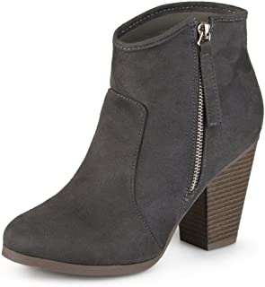 Journee Collection Women's High Heel Faux Suede Ankle Boots