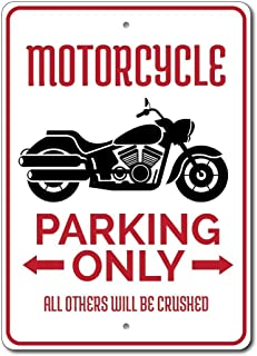 Bar per Negozi Garage Targa Metallica in Stile retr/ò casa Ellis Buell Motorcycles Only all Others Will Be Towed