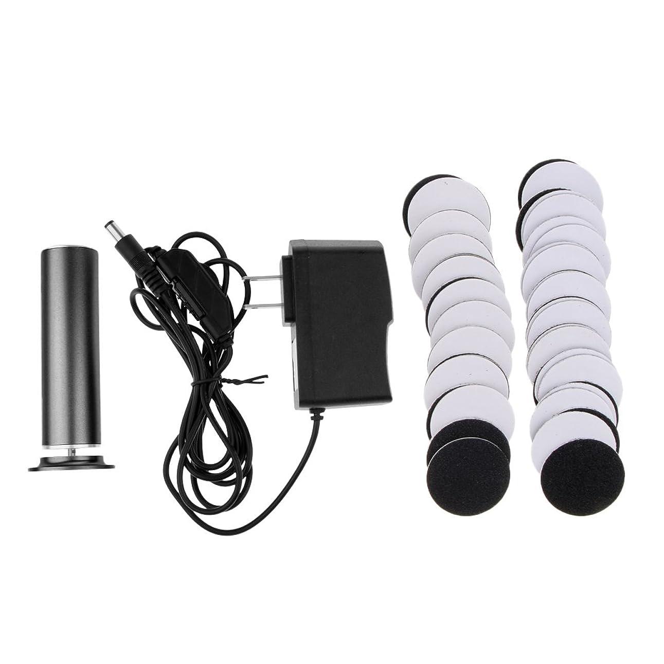 肺炎細心の暖炉Kesoto カルスリムーバー 電気リムーバー ペディキュア 交換用 サンドペーパーディスク 2色選べ - ブラック