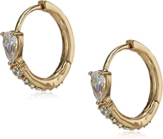 Anne Klein 60548629-5ZU Aretes de Mujer, Aleación con Acero Inoxidable, Dorado
