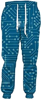 Pantaloni Casual con Stampa 3D con Chip elettronico Moda Pantaloni Unisex Pantaloni Sportivi Hip-Hop Harajuku Divertenti a...