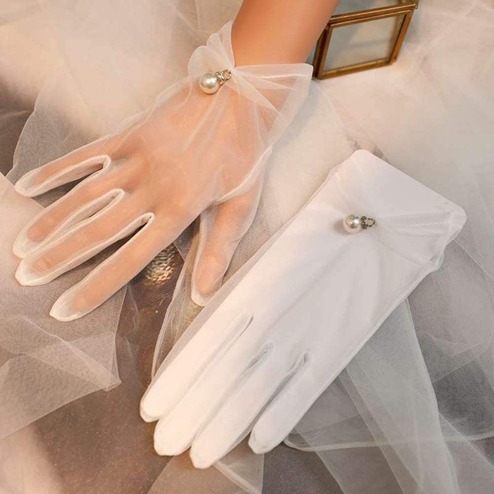 Factory outlet HUOQILIN Gauze Gloves Super-cheap Married Accessories Wedding Bridal