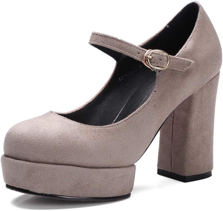 AdeeSu Womens Dance-Ballroom Platform Casual Urethane Pumps shoes SDC05947