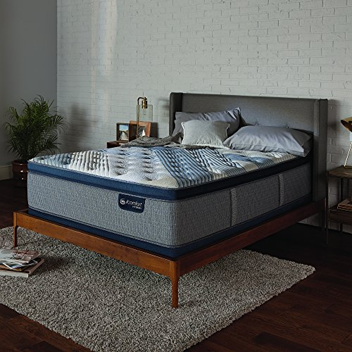 Serta Icomfort Hybrid 14' Blue Fusion 1000 Plush Conventional Bed Mattress, King, Gray