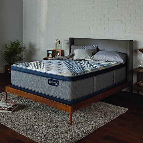 "Serta Icomfort Hybrid 14"" Blue Fusion 1000 Plush Conventional Bed Mattress, King, Gray"