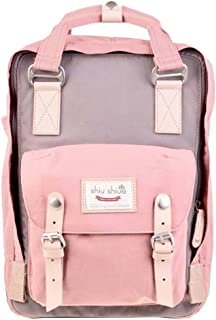 Water-resistant School Backpack Travel Bag fits 14inch Laptop for Student(Pink)