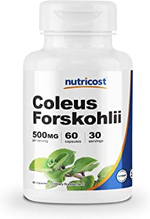 Nutricost Coleus Forskohlii 500mg, 60 Capsules - Maximum Strength Formula