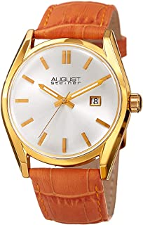 August Steiner Women's Silver Dial Leather Band Watch - AS8221OR