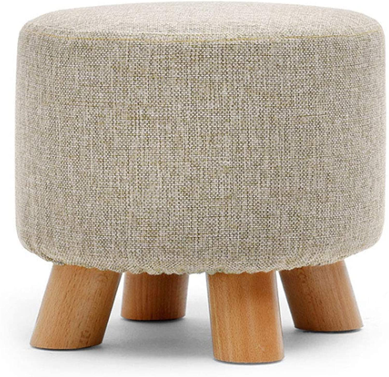 Footstool shoes Bench, Low Stool,Solid Wood,Small Stool,Sofa Stool,Stool, Creative,Foot Stool (Design   G)