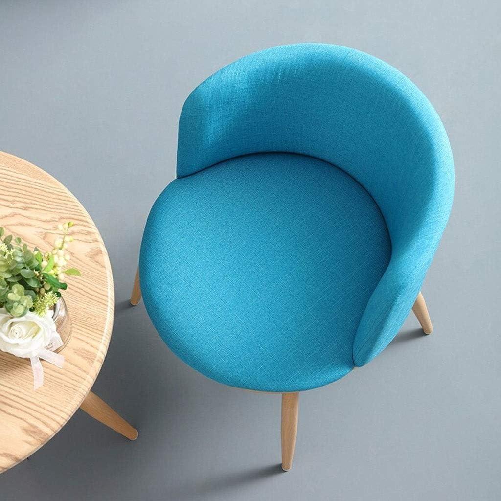 LH Chaise Moderne Nordic Dining Chair Casual Chaise Dossier Fer Forgé Accueil Loisirs Chaise Chambre Salon Bureau Chaise Longue de réception (Color : Vert) Bleu