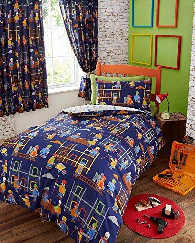 Portfolio Building Site Parure de lit avec Housse de Couette et taie d'oreiller Multicolore