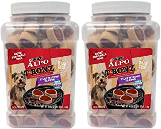 Purina Alpo Tbonz Filet Mignon Flavor Dog Treats - 2 Pack 40 Oz. Canister (2 Pack 40 oz)