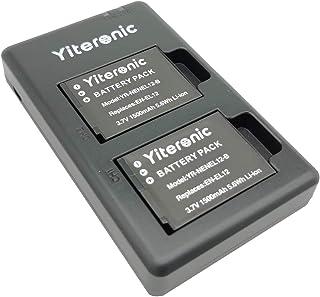 Yiteronic EN-EL12 互換バッテリー 2個+充電器 対応機種 Nikon EN EL12, Nikon KeyMission 170 KeyMission 360,Nikon Coolpix AW100 AW110 AW120 A...