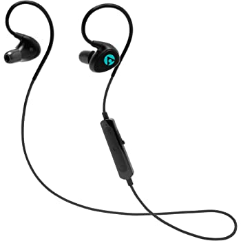 OCHRON Tunes Pro IPX7 Bluetooth Earphones, Upto 10 Hours of Battery and Memory Foam Ear Tips Wireless Earbuds, Waterproof Earphones with Mic (Heavy Bass Sound with CSR 8645 APTX and with 3D Bass)