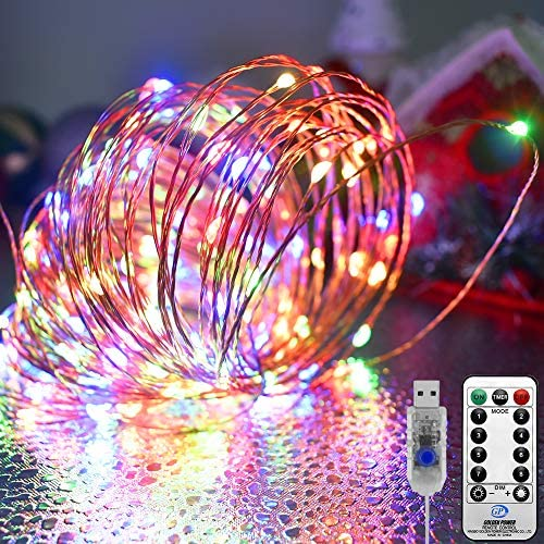 KNONEW LED Fairy String Light 72ft 220 LED 8 Modes with Remote USB Powered Copper Wire String product image