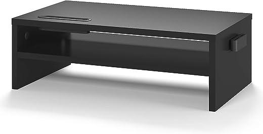 BONTEC Monitorständer, Unterbau Bildschirm, PC Bildschirm Ständer mit Handyhalter, Ergonomischem Laptop-Druckerständer mit Kabelführung für Laptop,...