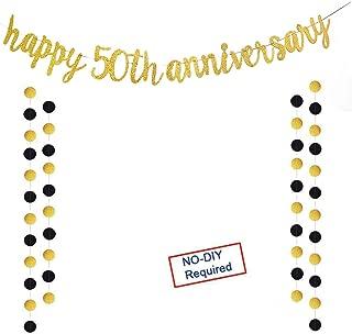 gold happy 50th birthday