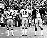 Pittsburgh Steelers Terry Bradshaw Franco Harris and Rocky Bleier During S. B. IX In 1975 8x10 Photo, Picture
