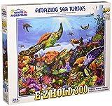White Mountain Puzzles Amazing Sea Turtles, 300 Piece Jigsaw Puzzle