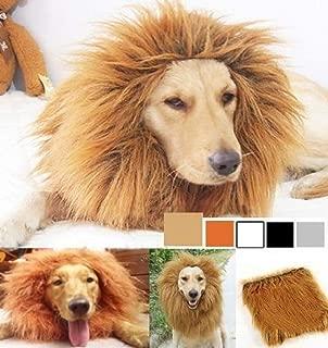 SUNREEK Large Pet Dog Cat Lion Wigs Mane Hair Festival Party Fancy Dress Clothes Costume