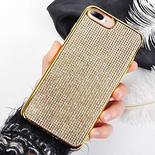 Funda con diamantes de imitación para iPhone 12 Pro 11 XS Max XR X para iPhone 8 7 6S Plus X 11 Pro Max, carcasa suave con purpurina, color dorado, para iPhone 12 Mini