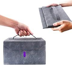 BOPOREA UV Light Sanitizer Box,Portable UV Sterilizer Bag, Foldable UVC Cleaner for Cell Phone,Milk Bottles,Clothes,Toys,T...