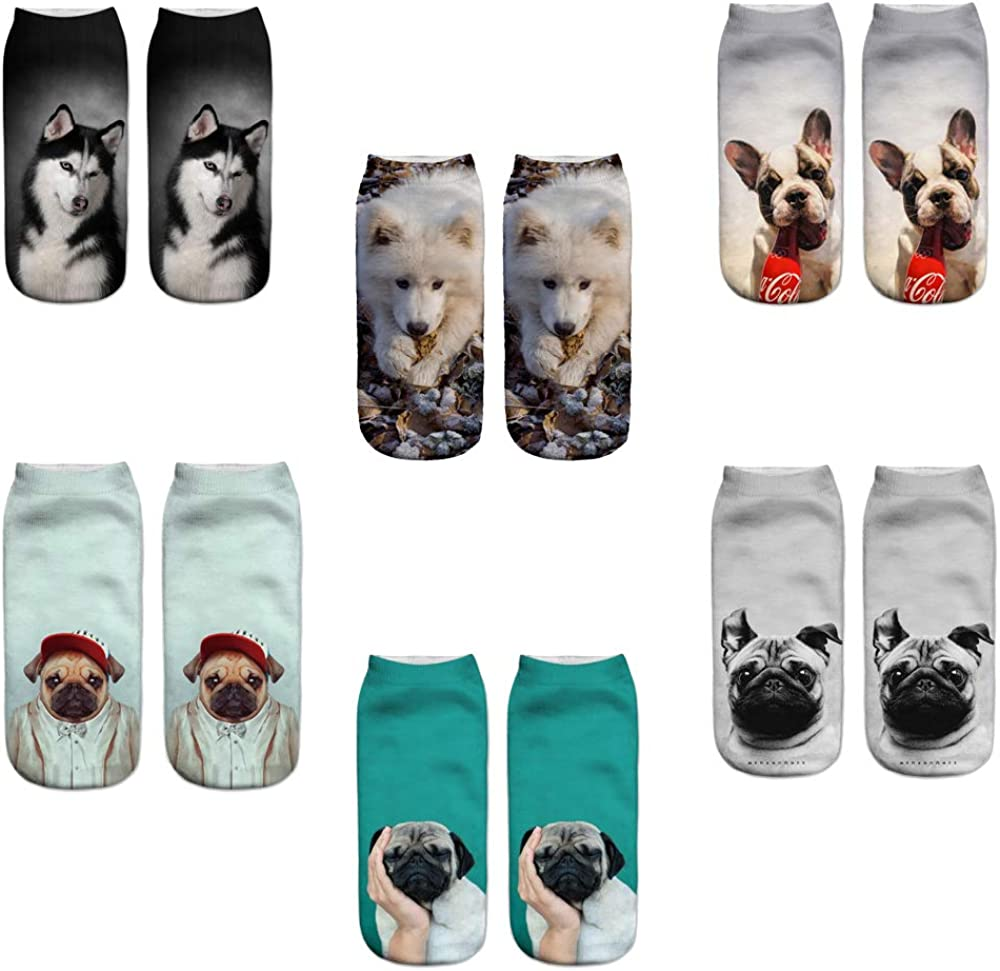 6 Pairs New product! New type Funny Cat Ankle Socks Novelty Industry No. 1 Crazy Silly Gifts Sock for
