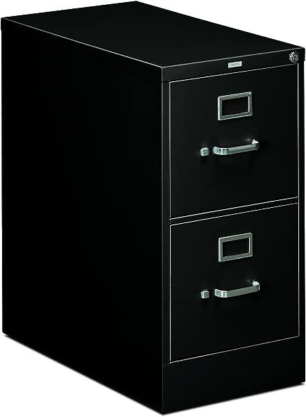 HON 2 Drawer Office Filing Cabinet 310 Series Full Suspension Letter File Cabinet 26 5 D Black H312