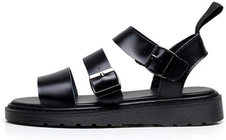 Pig pig-sandal Genuine Leather Women Sandals Gladiator Summer shoes Platform Black Flat Beach Sandals