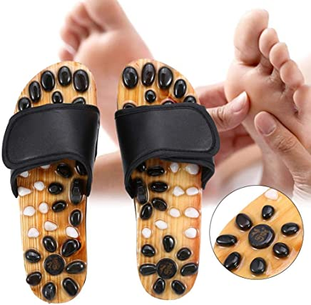 Swastik Fitness Acupressure Massage Slipper Foot Massager Jade Stone Acupoint Massage Slippers Shoes Reflexology Sandals for Men and Women