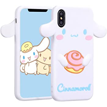 """Allsky Case for iPhone Xs Max 6.5"""" Cartoon Soft Silicone Cute 3D Fun Cool Cover,Kawaii Unique Funny Kids Girls Teens Animal Character Rubber Shell Shockproof Funny Cases for iPhone XsMax Cinnamoroll"""