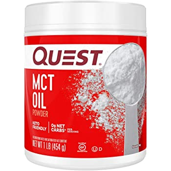 Quest Nutrition MCT Powder Oil, 0g Net Carbs, 0g Sugar, No Additives, 16 Ounce (Pack of 1)
