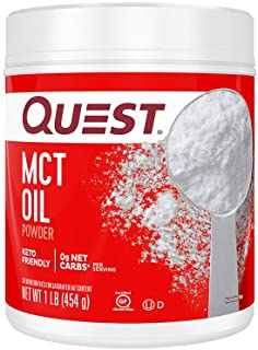 Sponsored Ad - Quest Nutrition MCT Powder Oil, 0g Net Carbs, 0g Sugar, No Additives, 16 Ounce (Pack of 1)