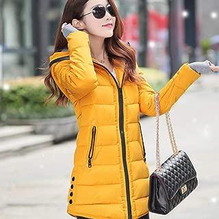 TGLAYA Women Winter Hooded Warm Coat Candy Color Cotton Padded Basic Jacket