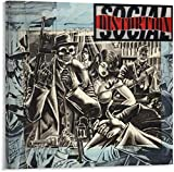 Home Decor Print Oil Painting on Canvas Wall Art Social Distortion Poster (Framed,24x24inch)