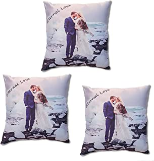 Custom Pillowcase Personalized Double Sided Design Print Photos and Text Pet Dog Cat Picture Birthday Gift Wedding Anniversary Home Decorations Customized Silk Fabric Throw Pillow Cover 18