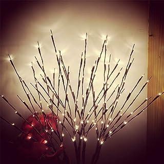 Mobestech luces de rama de LED rama de sauce artificial alimentado a batería lámpara de rama luces decorativas para árbol para decoración de Navidad nuevo año