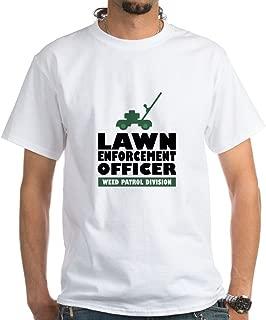 Lawn Enforcement 100% Cotton T-Shirt, White