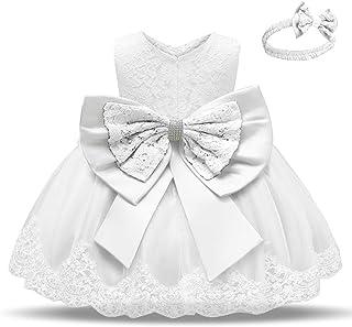 Babywearoutlet Little Girls Princess Dress Girls Fancy Party Costume Wedding Dress Tutu Frocks (white, 70#)