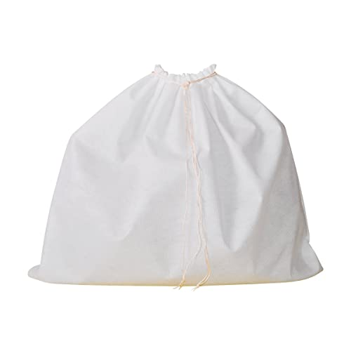 """Bags & Arts Dust Bag for Leather Handbags Shoes Belts Gloves Accessories Range of 10 Sizes (Small: L 40 x H 45 cm (15.7"""" x 17.7""""), White)"""