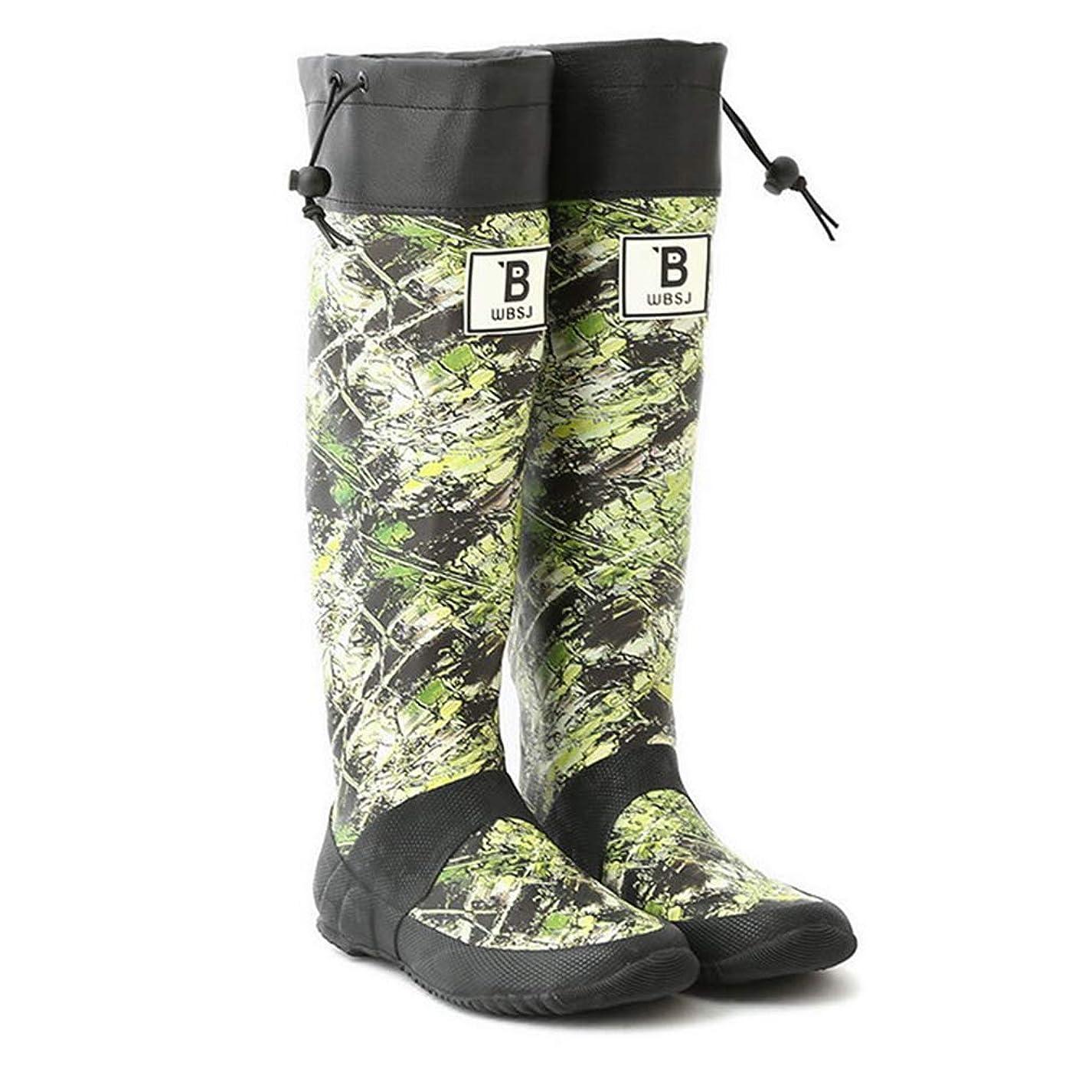 嵐因子ワードローブ日本野鳥の会 バードウォッチング長靴 カモフラ