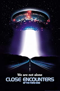 Close Encounters of The Third Kind We are Not Alone UFO Movie Cool Huge Large Giant Poster Art 36x54